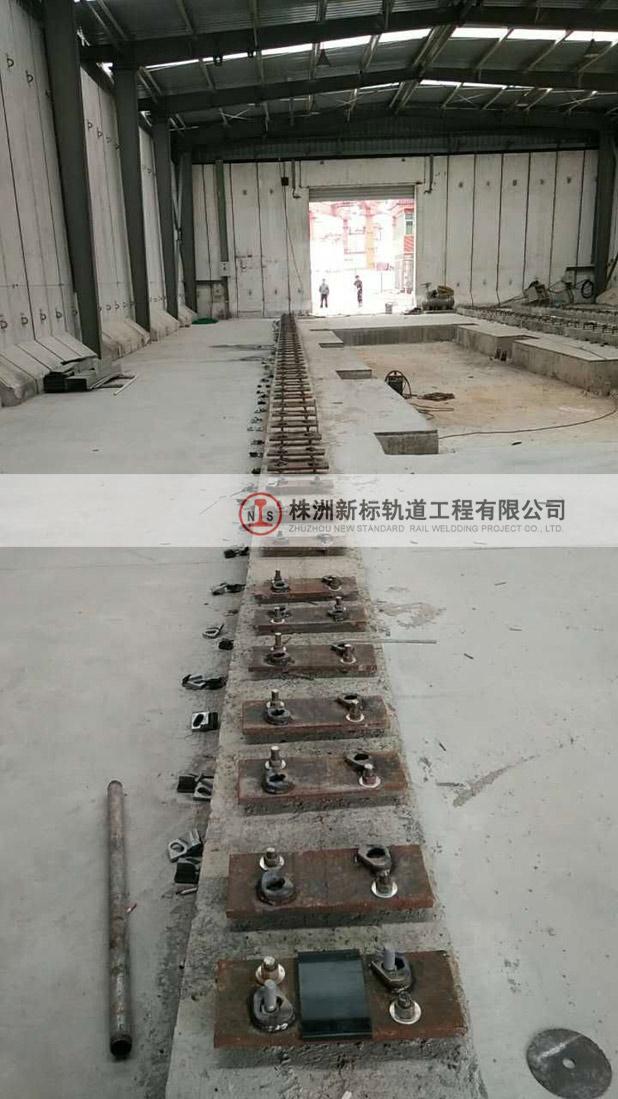 轨道安装施工过程中